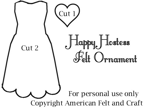 Happy Hostess Apron Ornament