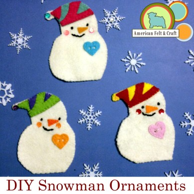 DIY felt snowman ornament tutorial