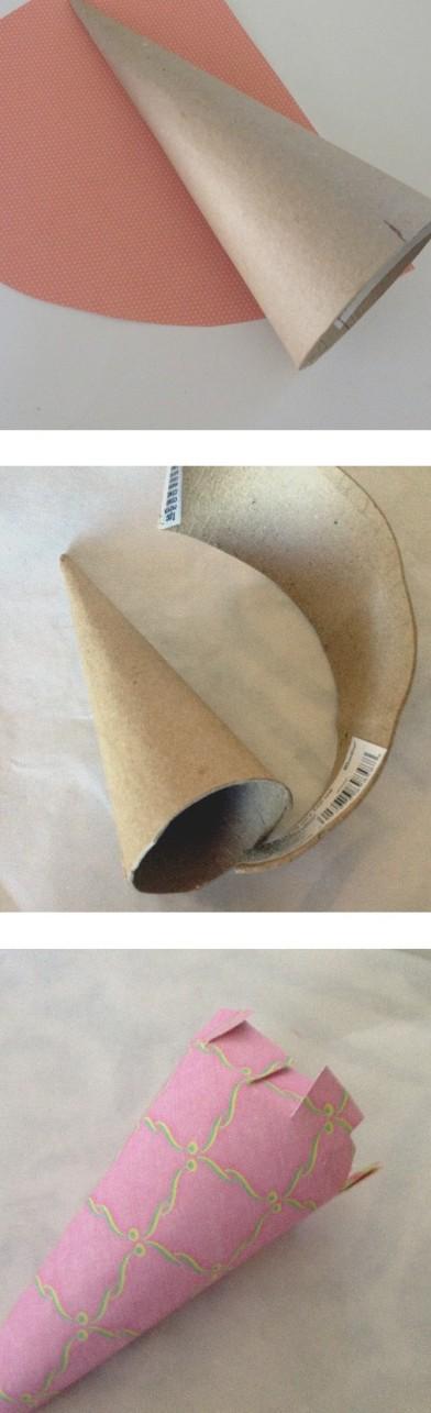 Wrapping Paper Mache Cone