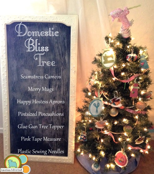 Finished Domestic Bliss Christmas Tree - Ornament tutorials