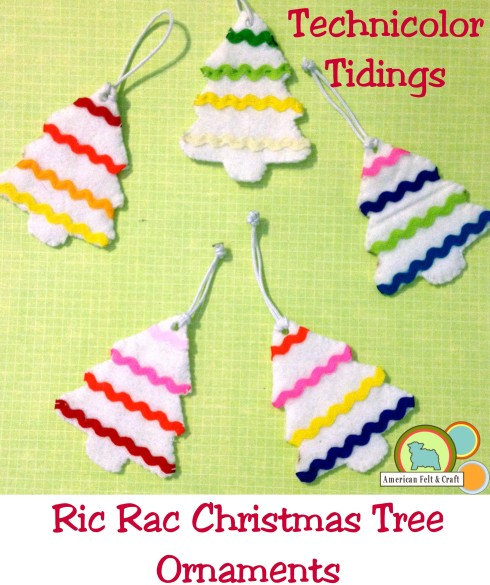 Free Ric Rac Tree Ornament Tutorial - super easy craft