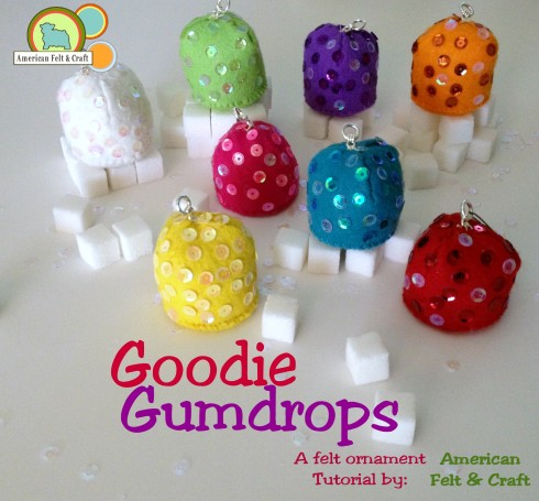 DIY Felt Gumdrop Ornament Tutorial