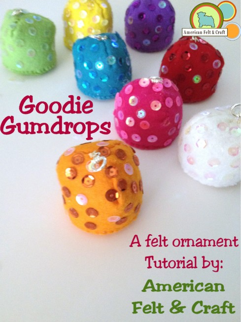 Felt Gumdrop Ornaments