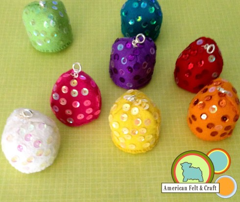How to make felt gumdrops