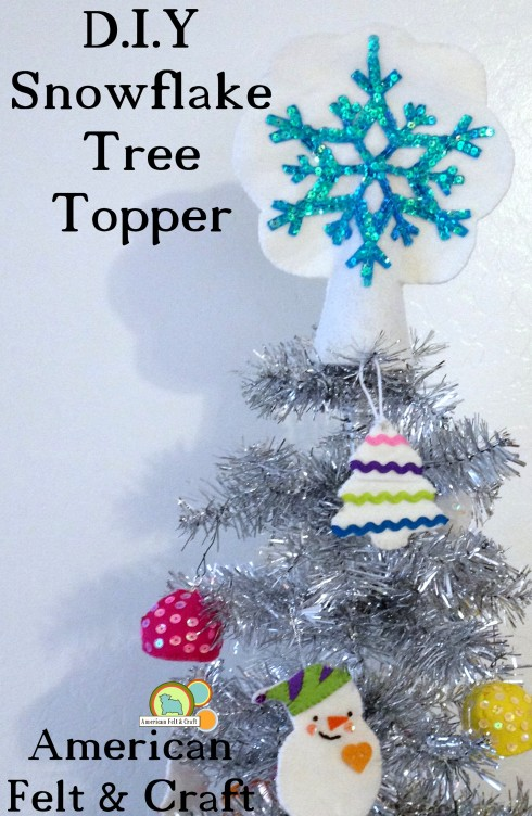 DIY felt and sequin tree topper