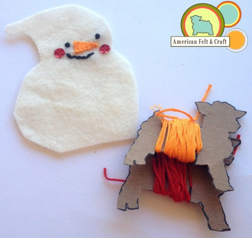 AFC 2013 Felt Snowman ornament tutorial