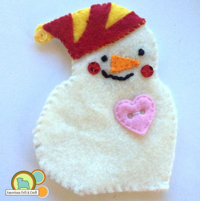 felt snowman tutorial - Christmas ornaments AFC