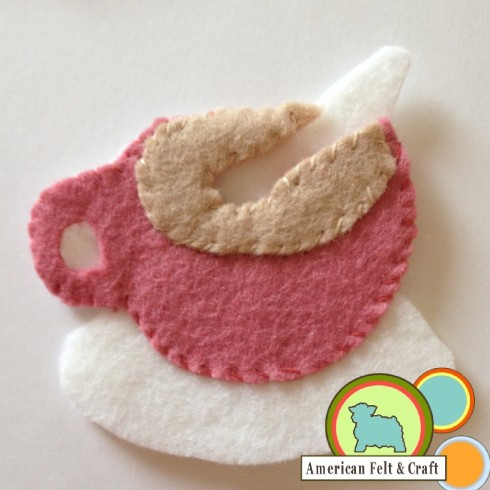 Felt Mug Ornament Tutorial Step2