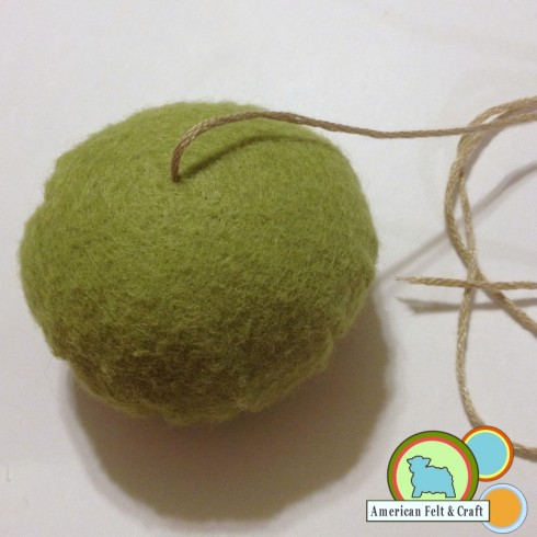 Section out the felt ball - American Felt and Craft Domestic Bliss week pincushion