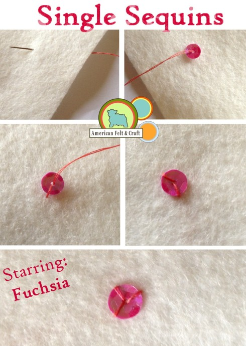 How to sew down a single sequin