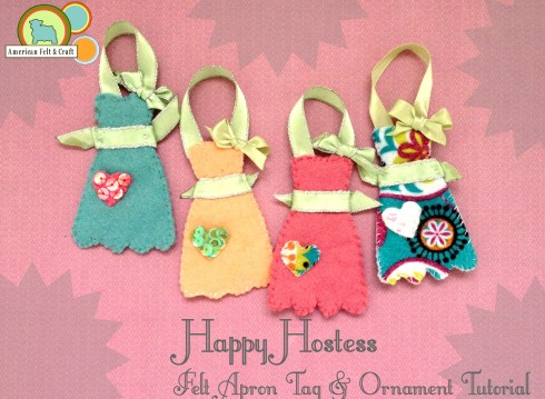 DIY felt apron ornament tutorial