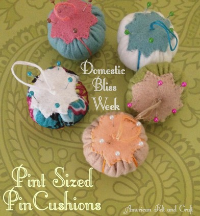 Pint sized Pincushions an easy DIY felt Christmas ornament tutorial