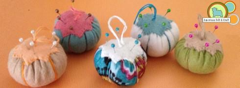 Felt Pincushion Ornaments - American Felt and Craft
