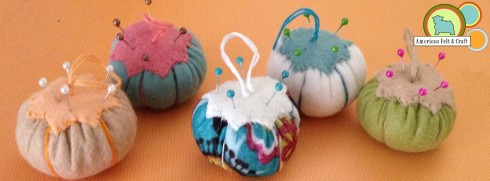 Felt Pincushion Ornaments - American Felt and Craft