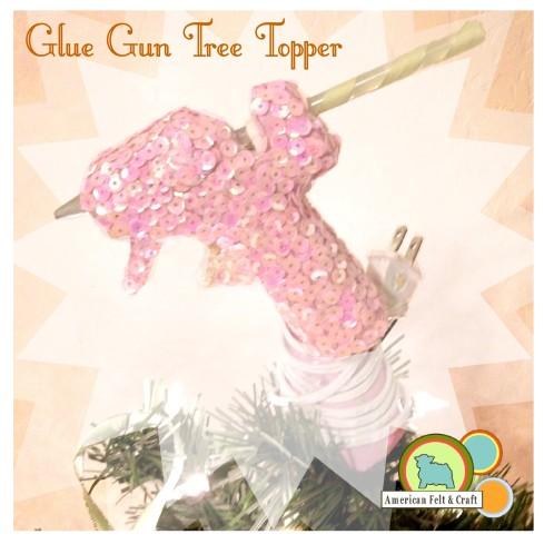 glue gun Christmas tree topper tutorial