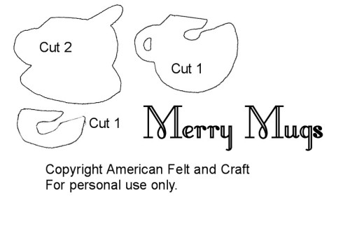 Merry Mug Felt Craft Pattern