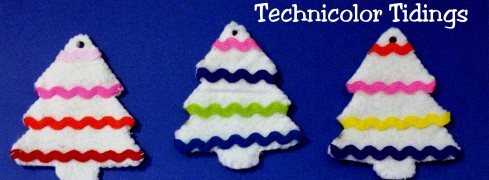 Felt Ornament Tutorial - Ric Rac trees