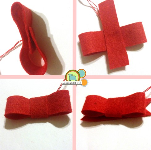 How to make a felt bow- with templates American Felt and Craft The Blog