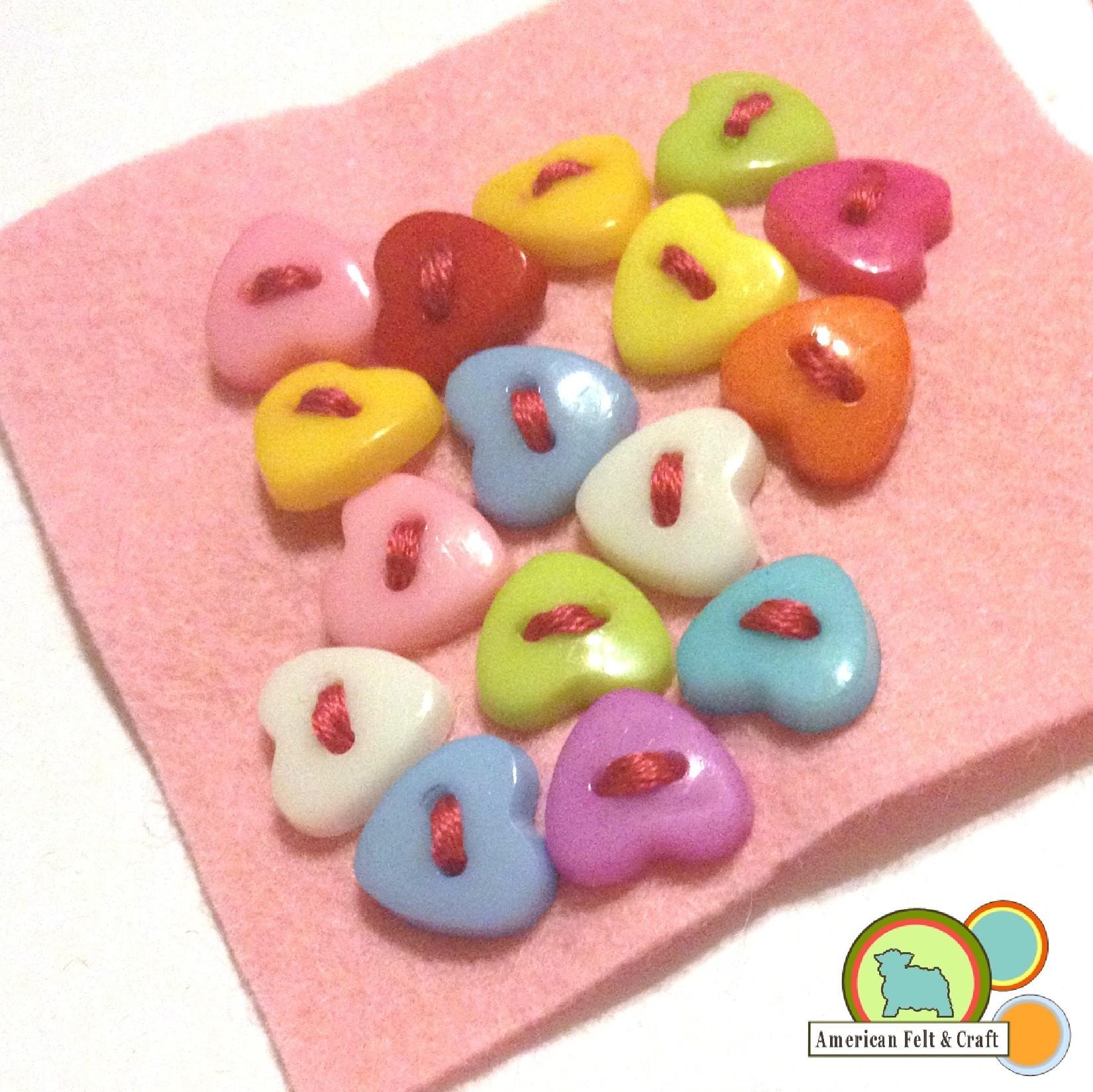 heart shaped buttons | ~American Felt & Craft ~ Blog