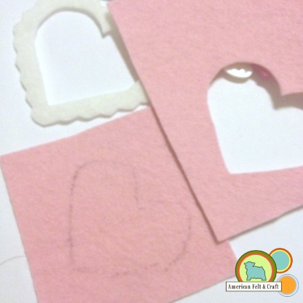 How to make a felt candy box valentines day craft