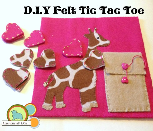 Giraffe Tic Tac Toe Felt Toy Tutorial - American Felt and Craft 'The Blog'