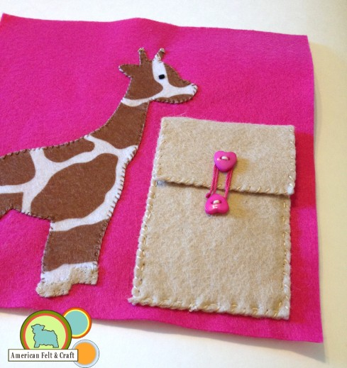 felt giraffe craft tutorial - American Felt and Craft