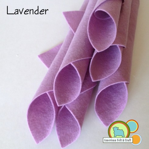 Lavender Felt Sheets From American Felt and Craft
