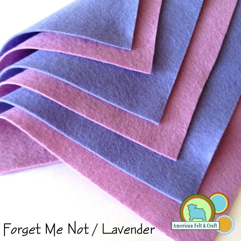 Lavender and Forget Me Not felt sheets From American Felt and Craft