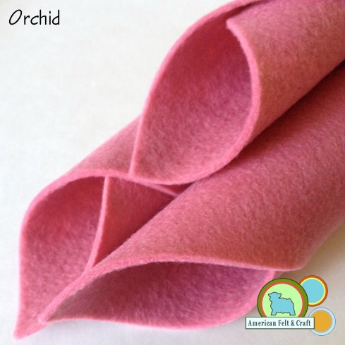 Orchid Felt sheets from American Felt and Craft