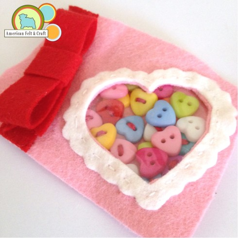 Make a felt valentines day box front complete
