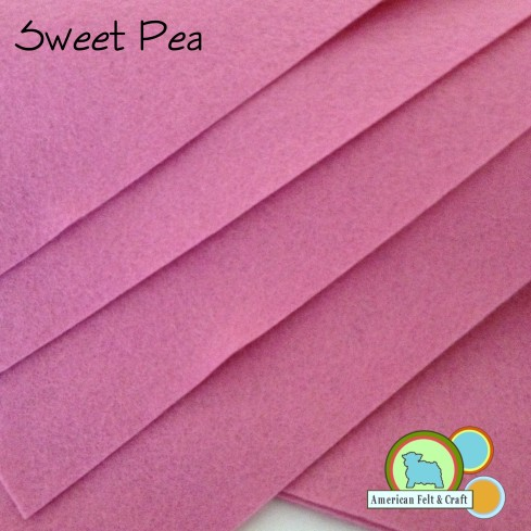 Sweet Pea Colored Felt Sheets from American Felt and Craft