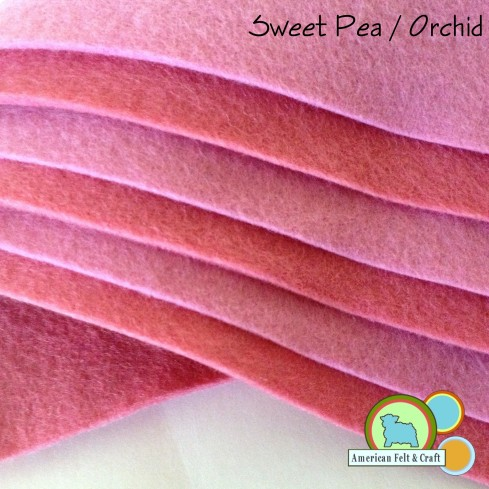 Sweet Pea and Orchid Felt Sheets From American Felt and Craft