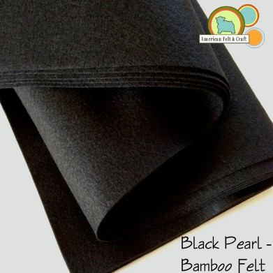 Black Pearl Bamboo Felt Fabric