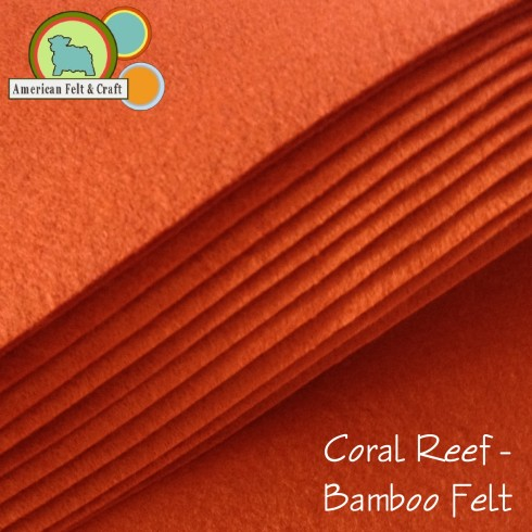 Deep Orange Bamboo Felt
