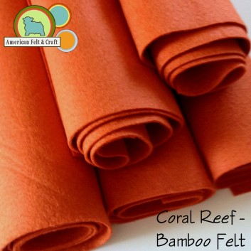 Coral Reef - a rusty orange bamboo felt
