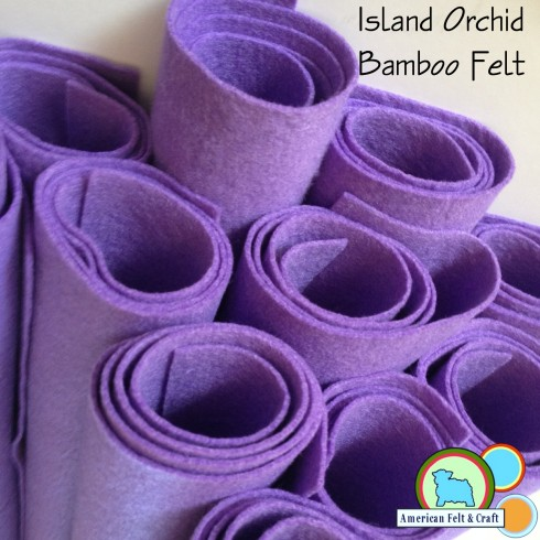 Island Orchid Bamboo felt fabric