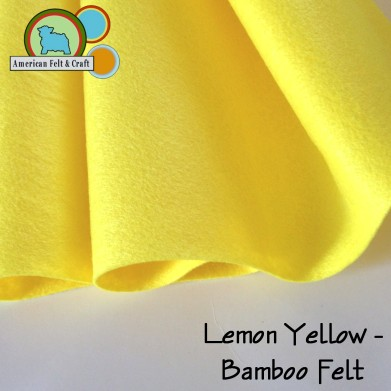 lemon yellow bamboo felt fat quarters