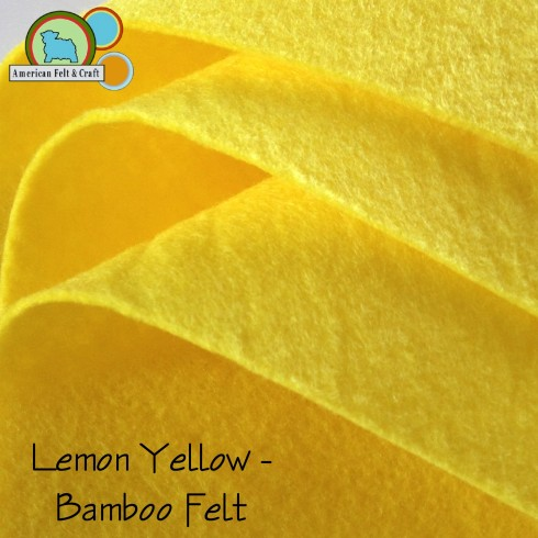 Lemon Yellow Bamboo felt - American Felt and Craft