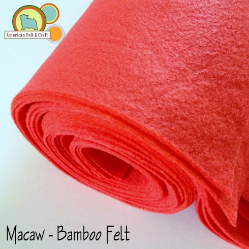 Macaw Red Bamboo felt fabric - American Felt and Craft