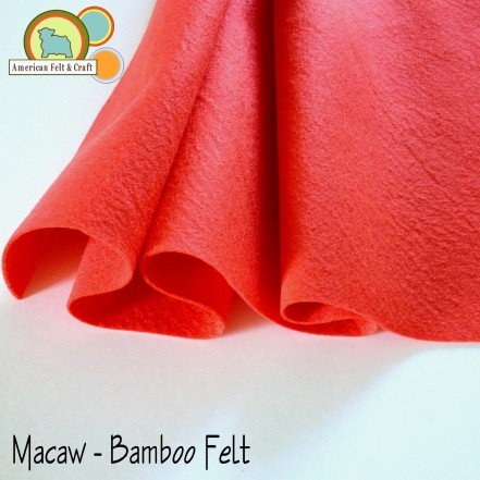 Macaw Red Bamboo Felt - Bamboo is super soft and drapes beautifully