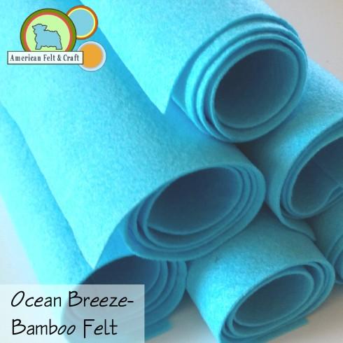 Ocean Breeeze aqua bamboo felt sheets