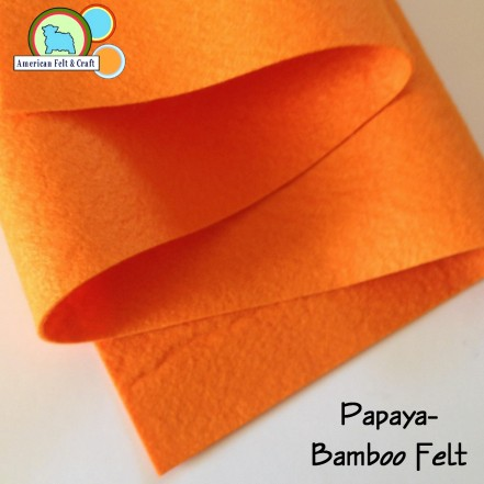 Bamboo felt handles and cuts beautifully - Papaya from American Felt and Craft