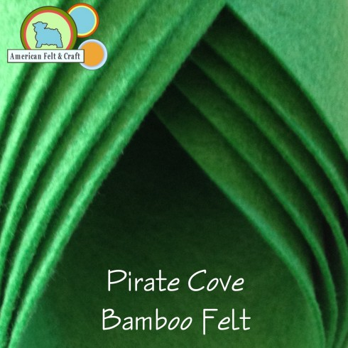 Pirates Cove - Green Bamboo felt