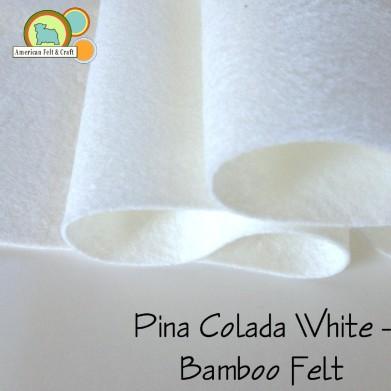 Pina Colada White Bamboo felt sheets