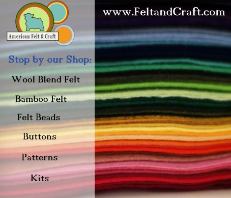 American Felt and Craft - a unique online craft supply store.