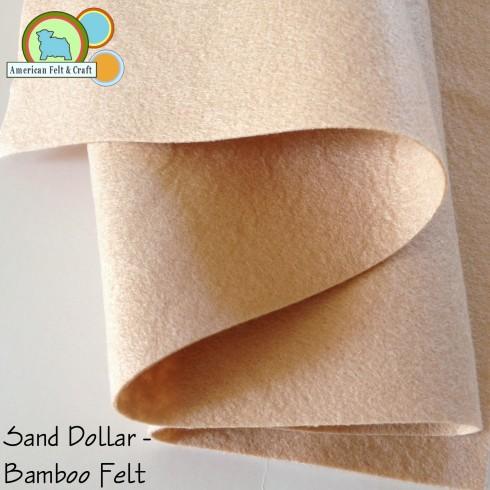 Sand Dollar a subtle beige bamboo felt fabric