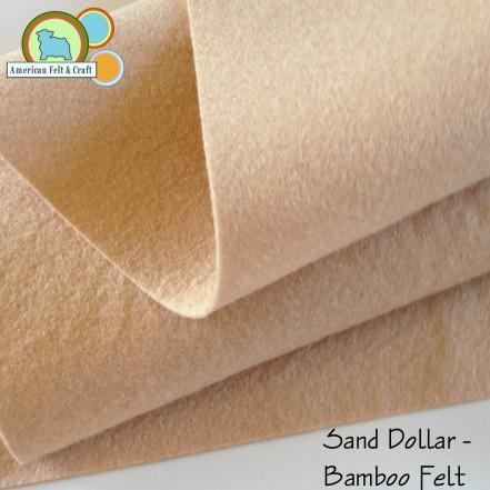 Sand dollar beige bamboo felt sheets