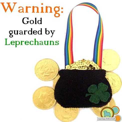 Pot of Gold door hanger tutorial - American Felt and Craft 'The Blog'