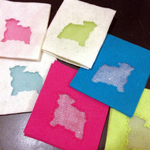 Sheep Sachets made from felt