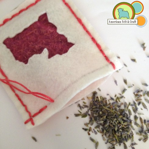 Lavender Drawer Sachets - DIY Felt Craft